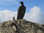 Christomannos-Denkmal in den Dolomiten