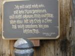 Tafel am Lindhof - Spruch von Albert Lindhof